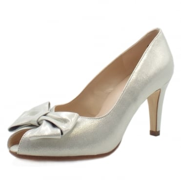 Stila White Star Suede Peep Toe Shoes