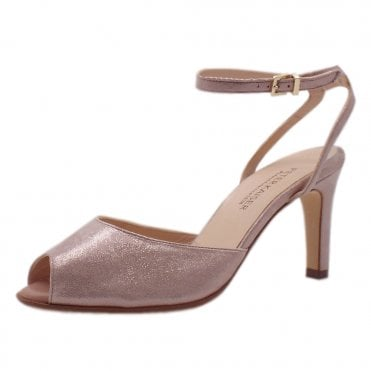 Summer Ankle Strap Sandals in Mauve Luz