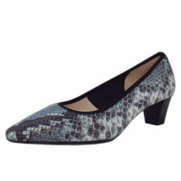 Swenja Azur Diano Plus Fit Fabric Mid Heel Pumps