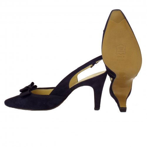 b380d5e70a67 ... Tanina Slingback Shoes in Navy Suede ...