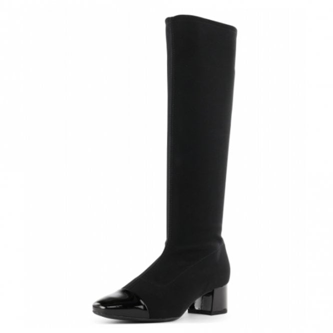 Peter Kaiser Tinja Pull On Stretch Knee High Boots in Black