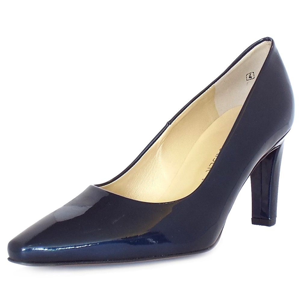 peter kaiser uk tosca notte cabi navy patent iconic mid heel pumps. Black Bedroom Furniture Sets. Home Design Ideas