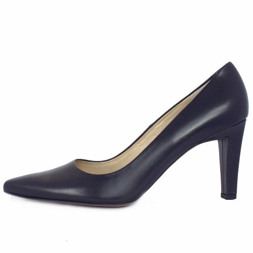 9daf4fbef Peter Kaiser Tosca   Navy Leather Ladies Pointed Toe Court Shoes