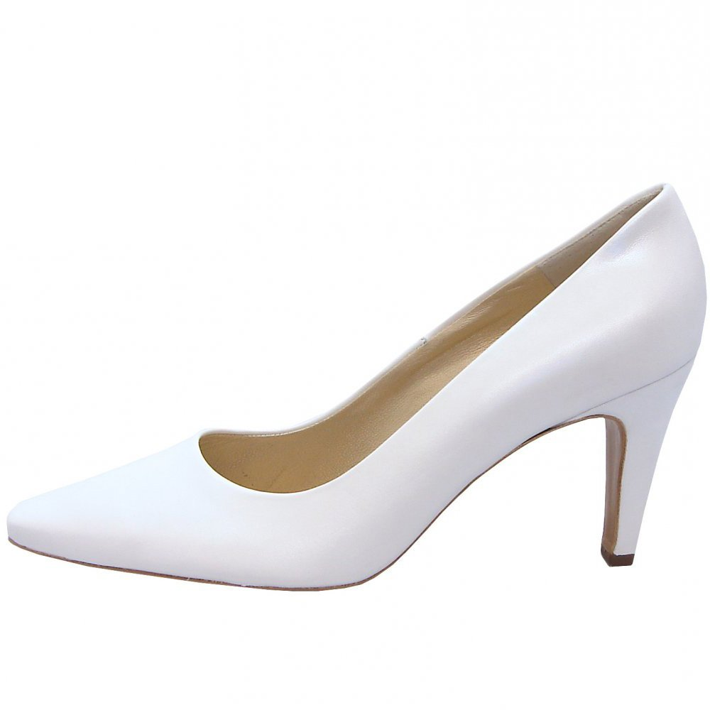 White Mid Heel Bridal Shoes