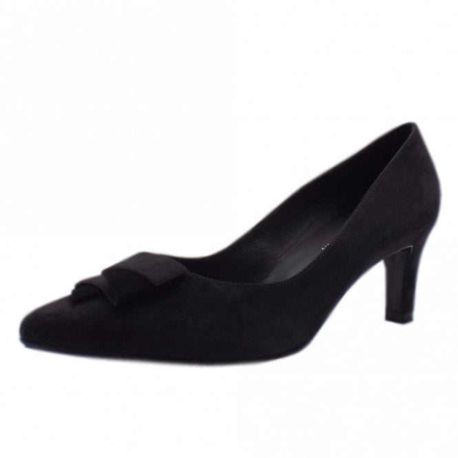 Ulrike Carbon Suede Mid Heel Pointy Pumps