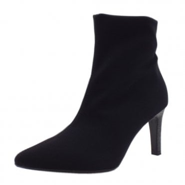 Ulsa Black Stretch Ankle Boots