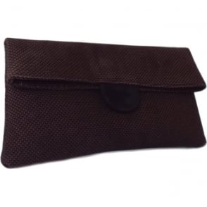 Vista Clutch Bag in Nuba Moon Suede