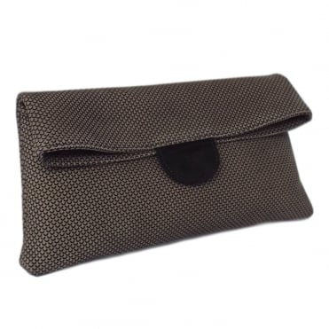 Vista Taupe Moon Suede Clutch