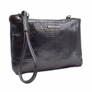 Waida Dressy Clutch Bag in Stylish Carbon Corona