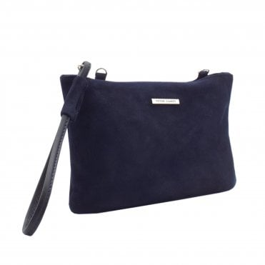 Waida Dressy Clutch Bag in Stylish Notte Suede