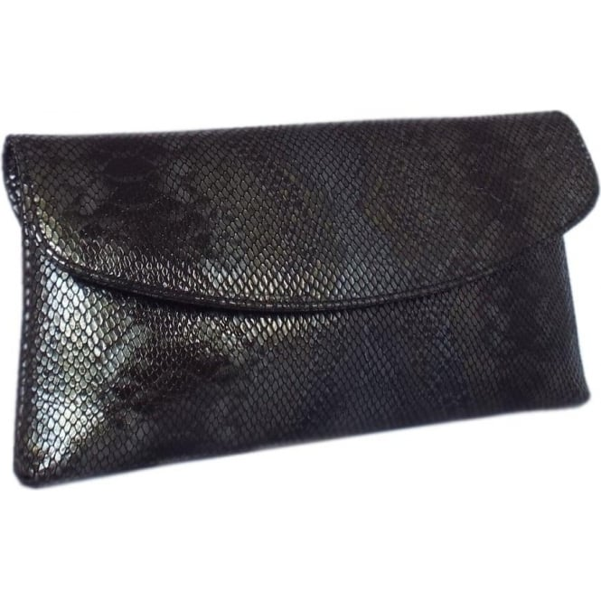 Winema Black Leather Clutch
