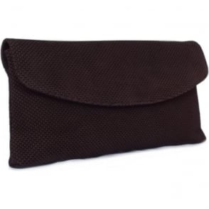 Winema Clutch Bag in Nuba Moon Suede