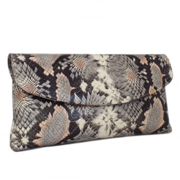 Winema Powder Calendula Leather Clutch