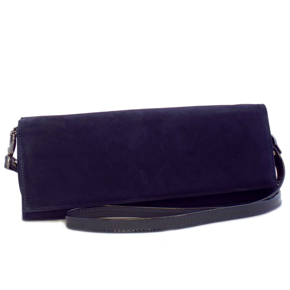 ... Womens Bags › Peter Kaiser › Winifred Clutch Bag in Navy Suede