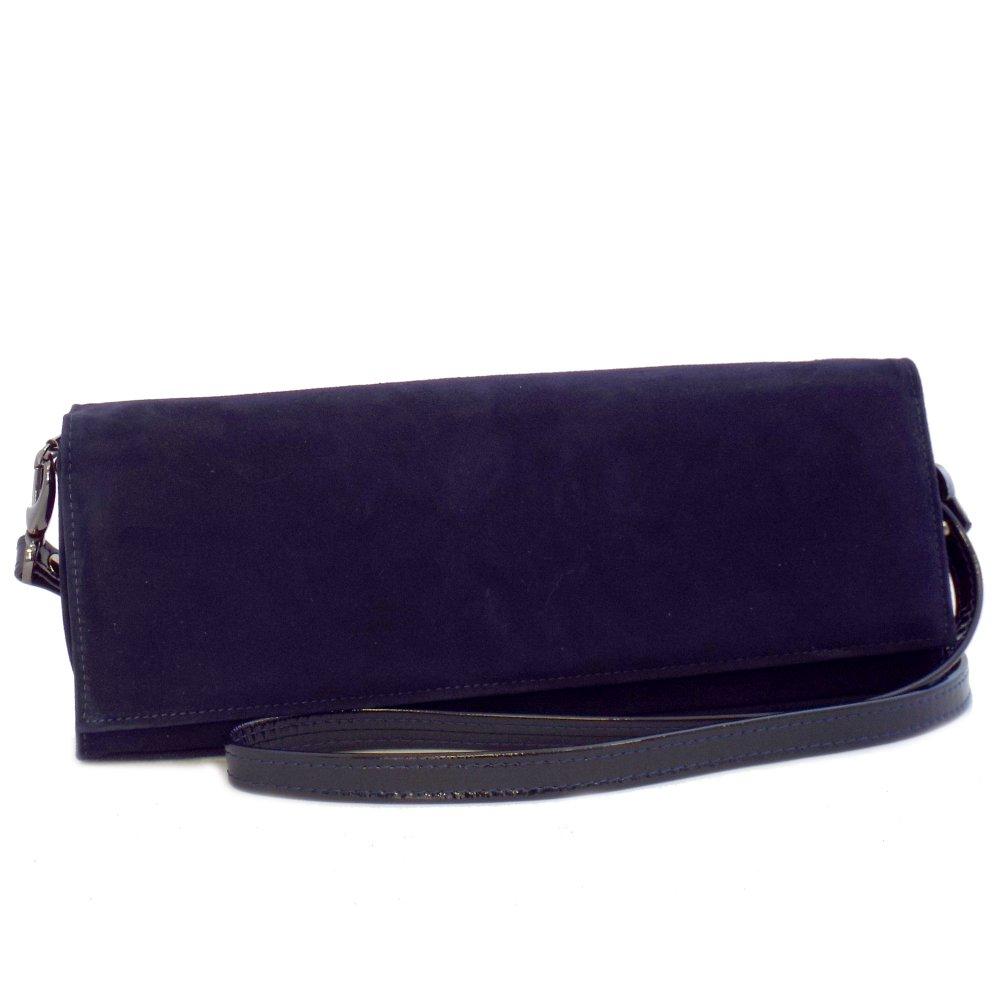 84feec9f6c6 Winifred Clutch Bag in Navy Suede