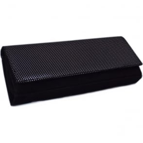 Winifred Evening Clutch Bag In Black Suede Gruel