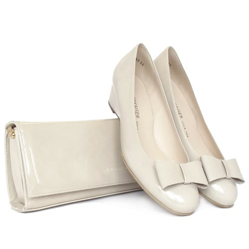 Peter Kaiser Suomi   Sand patent peep toe court shoes with