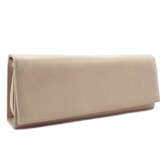 Winifred Sand Suede Evening Bag
