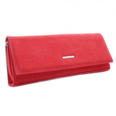 Winifred Sharon Pink Leather Stylish Clutch Bag