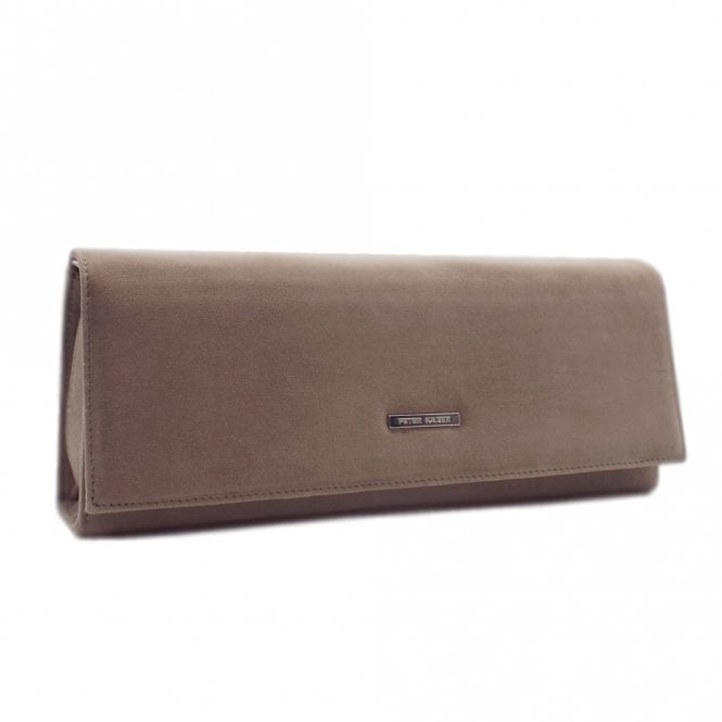 Winifred Taupe Suede Stylish Clutch Bag