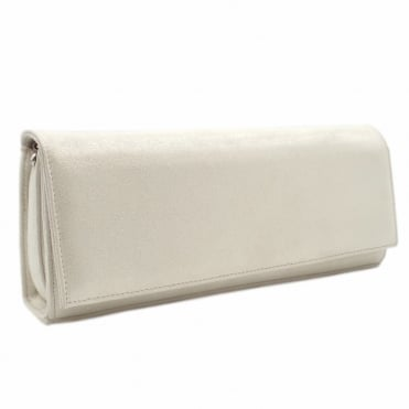 Winifred White Star Suede Evening Bag