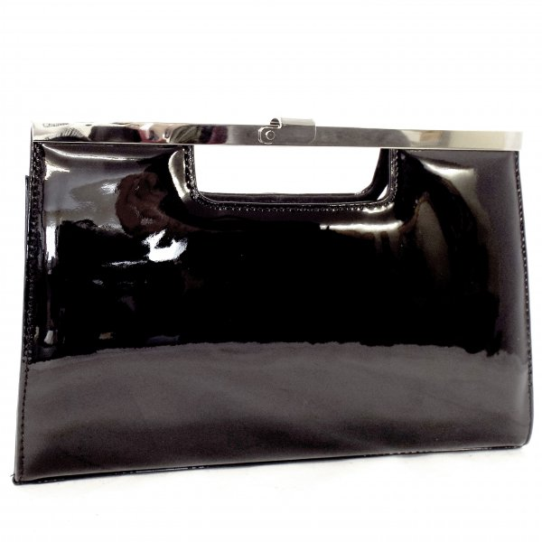 Peter Kaiser Wye | Ladies Black Patent Leather Clutch Bag