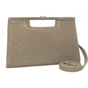 Wye 14 Clutch Bag in Taupe Musti