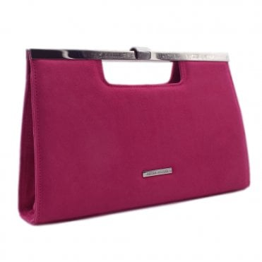 Wye Berry Suede Stylish Clutch Bag