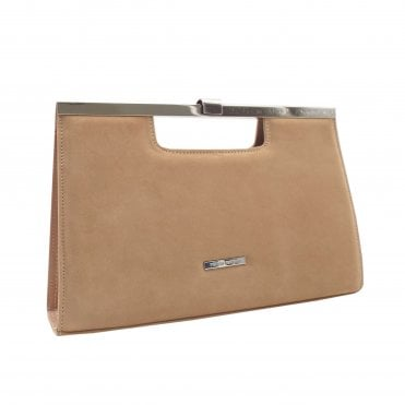 Wye Biscotti Suede Stylish Clutch Bag