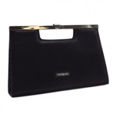 Wye Black Luz Shimmering Suede Stylish Clutch Bag