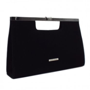 Wye Black Suede Occasion Clutch Bag