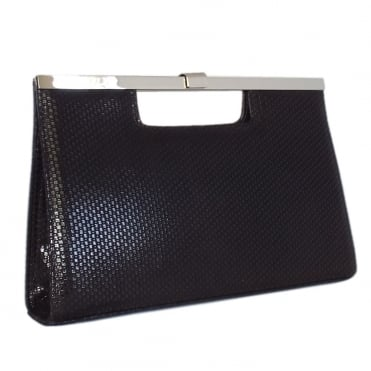 Wye Black Topic Suede Evening Clutch Bag