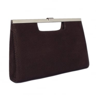 Wye Brown Suede Evening Bag