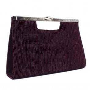 Wye Cabernet Trama Stylish Occassion Clutch Bag