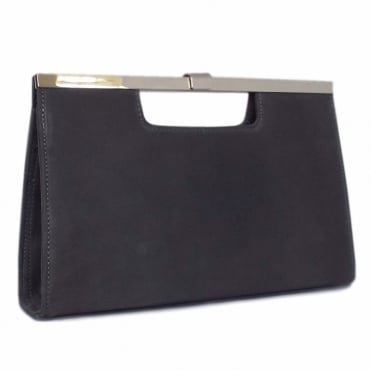 Wye Carbon Suede Evening Clutch Bag