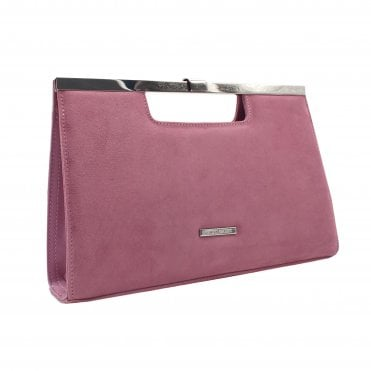 Wye Cassis Suede Stylish Clutch Bag