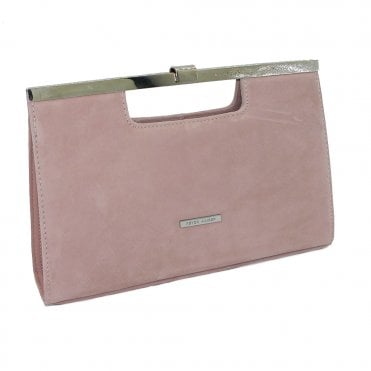 Peter Kaiser Wye Classic Occasion Clutch Bag in Mauve Suede
