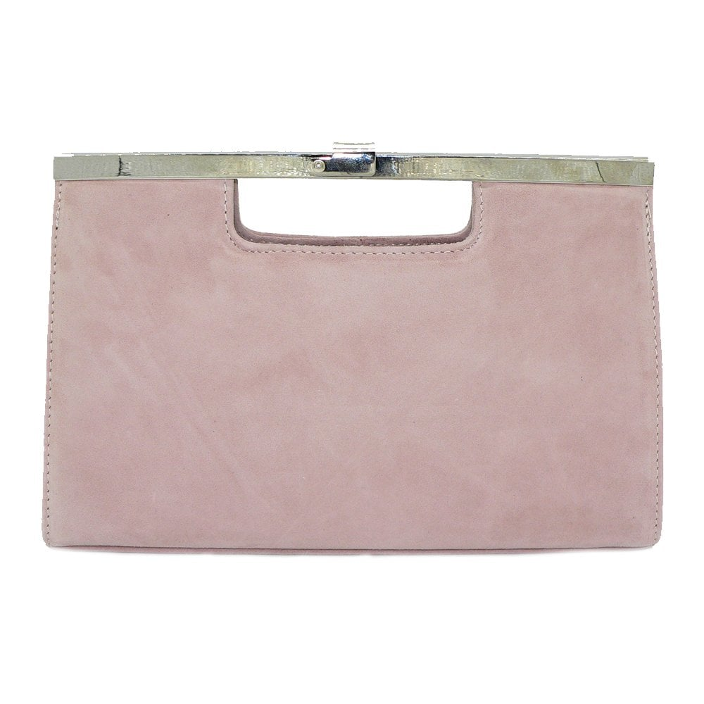 Peter Kaiser Wye   Classic clutch in nude sand patent   Peter Kaiser UK