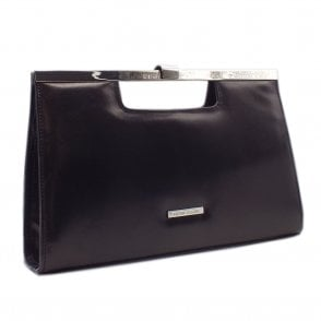 Wye Classic Occasion Leather Clutch Bag in Black
