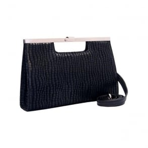 Wye Clutch Bag in Black Musti