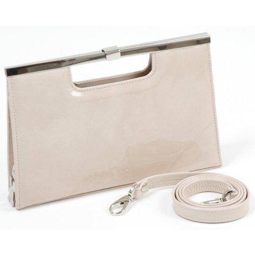 Peter Kaiser Wye   Metallic Leather Evening Clutch Bag