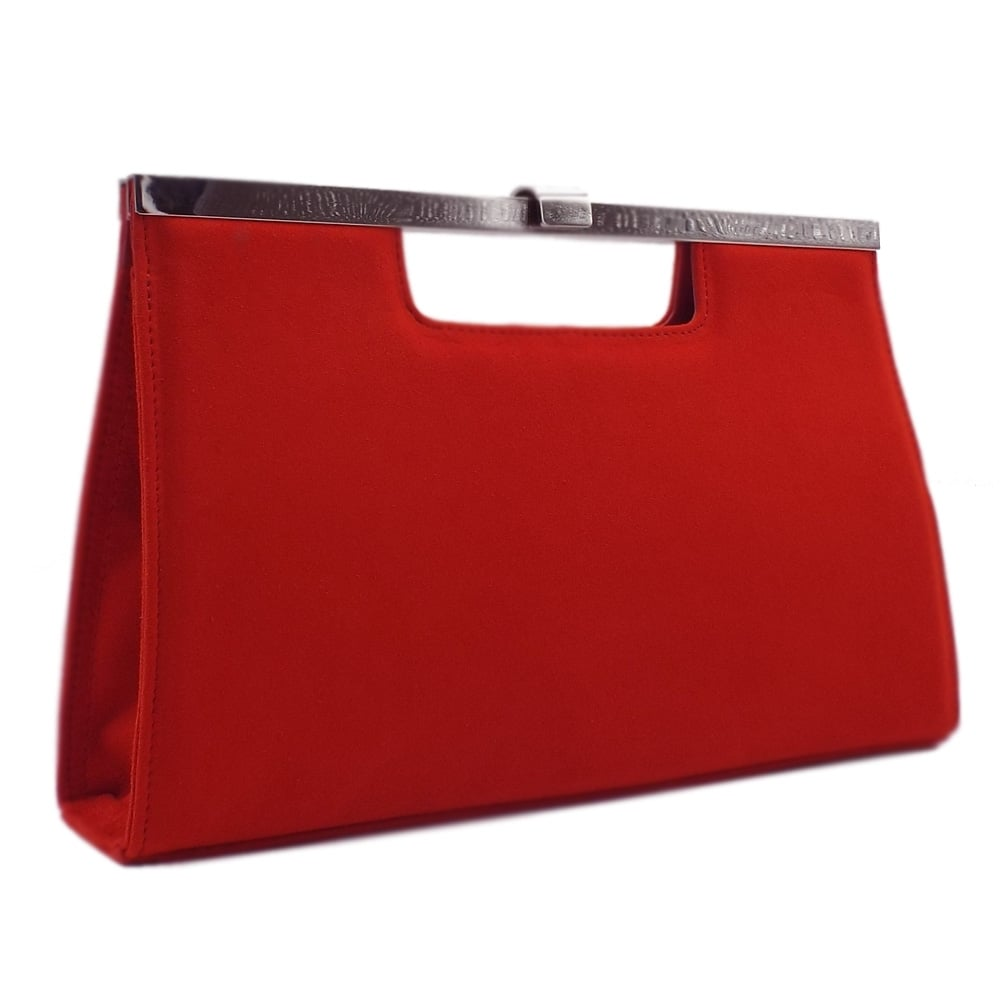 f704a707692 Peter Kaiser UK   Wye   Coral Red Suede Clutch Bag   Matching Set