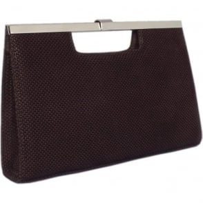 Wye Evening Bag In Nuba Moon Suede