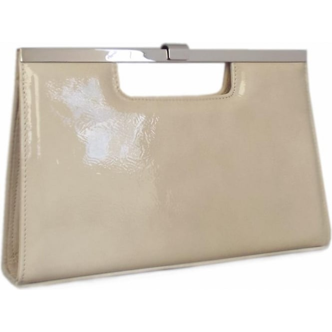 Wye Lana Crackle Leather Evening Clutch Bag