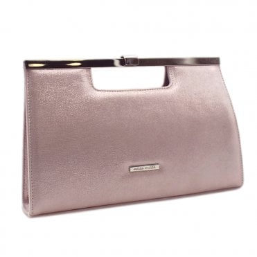 Wye Mauve Luz Shimmering Suede Stylish Clutch Bag