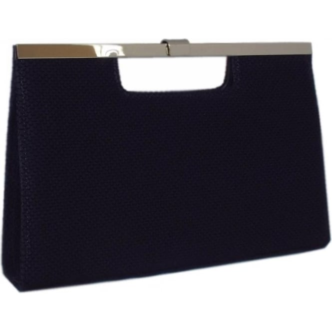 Wye Navy Suede Evening Bag