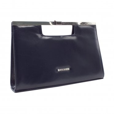 Wye Notte Navy Leather Stylish Clutch Bag