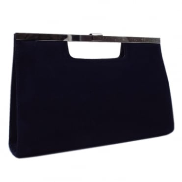 Wye Notte Suede Evening Clutch Bag