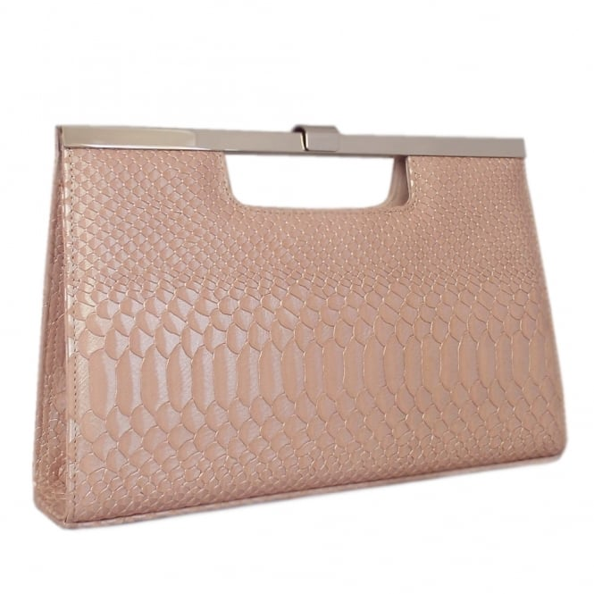 Wye Powder Birman Leather Evening Clutch Bag