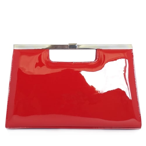 Peter Kaiser UK   Wye   Red Vit Glossy Patent Leather Evening Bag